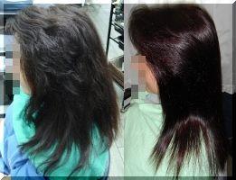 縮毛矯正と白髪染めヘア