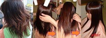 美髪縮毛矯正後ただ乱暴に乾かしただけで美髪状態