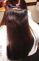 何度もエンパニ美髪縮毛矯正し、美髪ヘアカラー