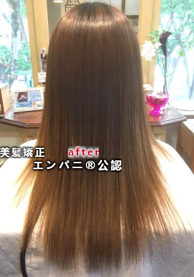 縮毛矯正が上手い東京美髪専門店大田区のトリートメント不要レベル